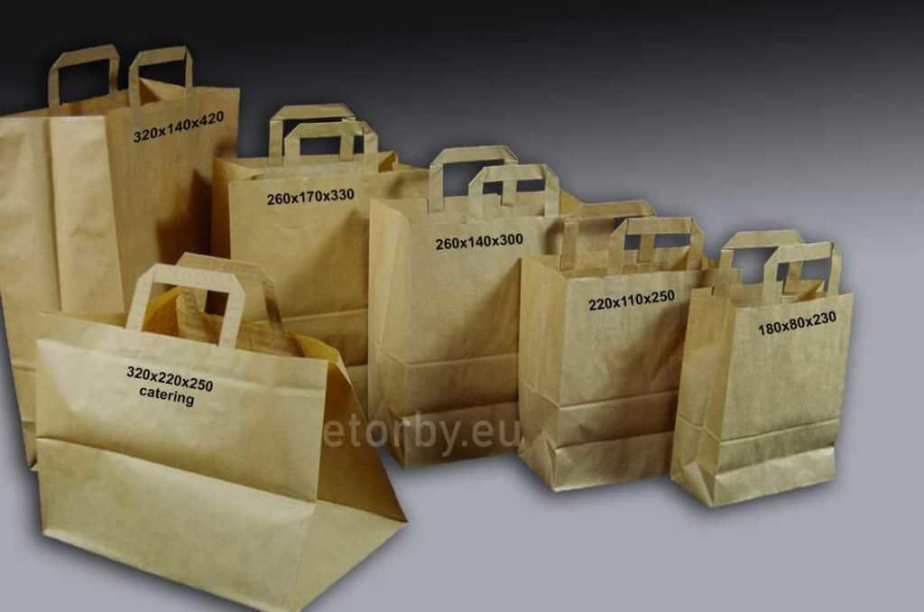 torby papierowe z płaskim uchem